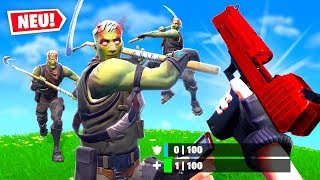 4 ZOMBIES vs KIDMAVE in FORTNITE Creative!