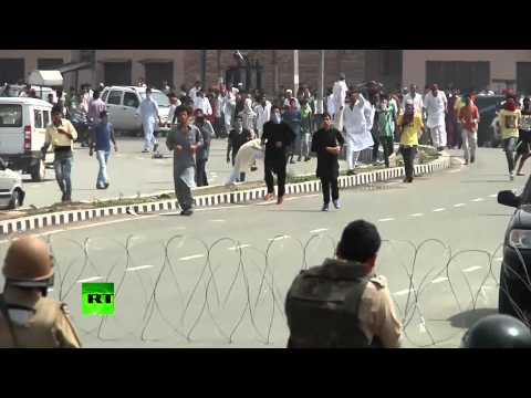 RAW: Clashes, violence in Kashmir at anti-Israeli protest