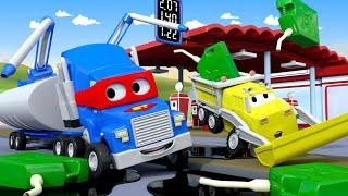 Xe Bồn - Siêu xe tải Carl 🚚⍟ những bộ phim hoạt hình về xe tải l Super Truck Cartoons for Kids