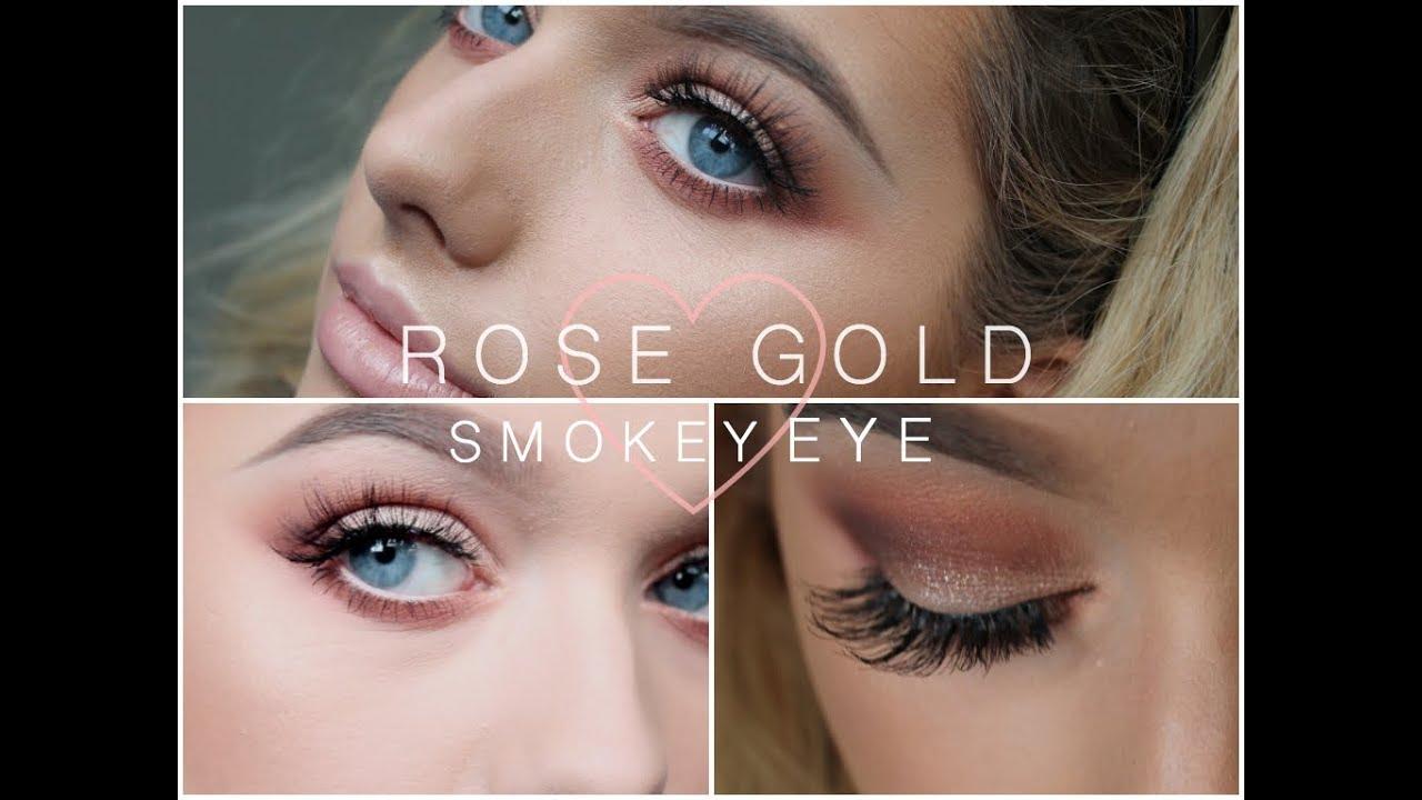rose gold glitter make up tutorial rachel leary youtube