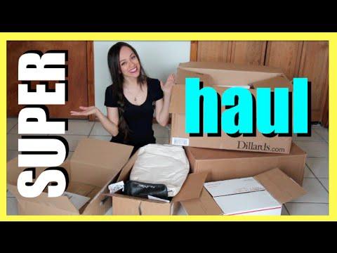Ropa, zapatos, maquillaje y MAS! | SUPER MEGA HAUL!