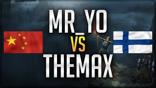 ⚔️ AoE2: MrYo vs TheMax [No Walls - Bo9]