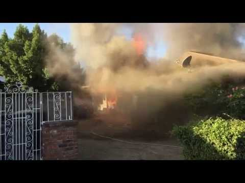 Neighbor rescues man from burning Calif. home
