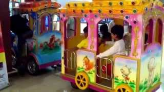 KIDS PLAYTIME Amusement Park Fun on Merrygoround Roundabout Ride on Train by JeannetChannel