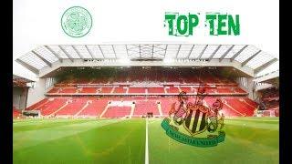 Ten Biggest Stands in British Football Stadiums