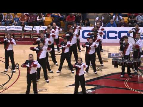 Steubenville High School Big Red Band performs at CRC basketball game