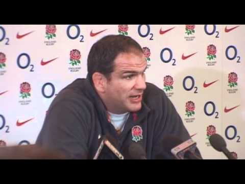 Martin Johnson speaks about his team selections - England Team Announcement v France 6N 2011
