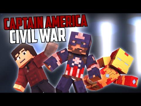 Minecraft Parody - CAPTAIN AMERICA: CIVIL WAR! - (Minecraft Animation) [4K]