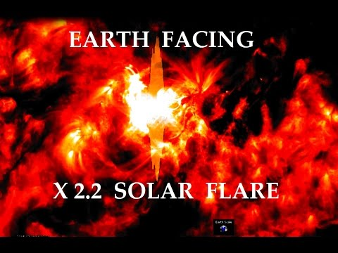 3/11/2015 -- X2.2 Solar Flare -- Earth Facing side of the sun -- multiple views from the SDO