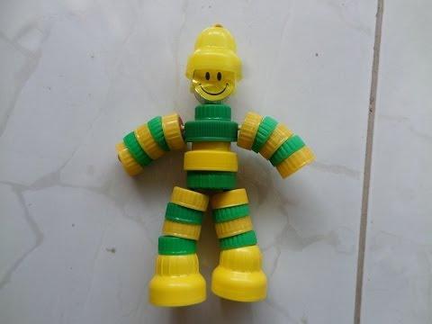 Como fazer boneco com tampas cores BANDEIRA. Decoration world Cup. Music Videos