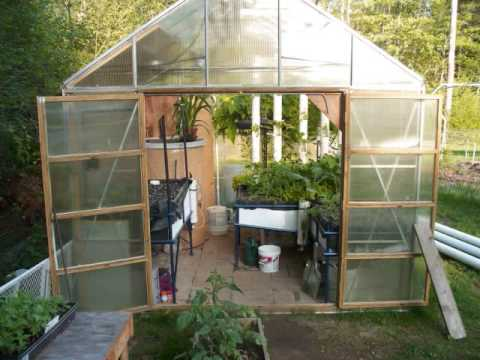Aquaponics Greenhouse Tour Youtube