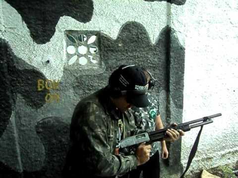 disparos de escopeta calibre 12