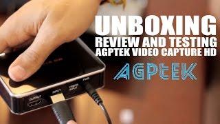 Unboxing HD video Capture AGPTEK (XBOX 360, PS4, Xbox One) Review, Capturadora video juegos