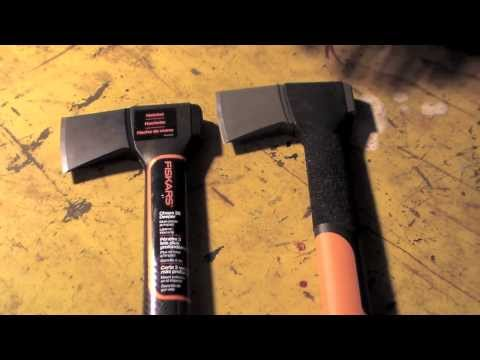 NEW Model Fiskars X7 Type Hatchet (Watch Before Buying!)