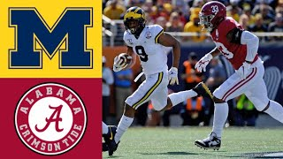 #14 Michigan vs #13 Alabama Citrus Bowl First Half Highlights | 2020 College Football Highlights