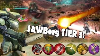 SAWBorg Tier 3 Gameplay! - CRAZY MATCH | Vainglory [UPDATE 1.11]