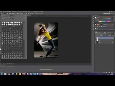 Световой эффект в photoshop CS6