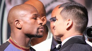 THE MOMENT: Floyd Mayweather VS.  Marcos Maidana FACE-OFF!!!