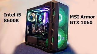 $1200 Gaming PC Build - i5 8600K    MSI GTX 1060 Armor