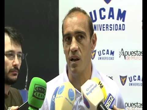 Eloy Jiménez en previa UCAM Murcia-Marbella (24-10-14)