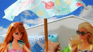 How to make a doll parasol (sunshade umbrella) - miniature crafts DIY