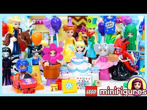 Disney Princess Party Dress Up in Lego Minifigures Costumes Series 18 Complete Set Silly Play Kids T