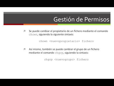 Ubuntu | 10.- Gestión de permisos | 1.- chmod, chown y chgrp