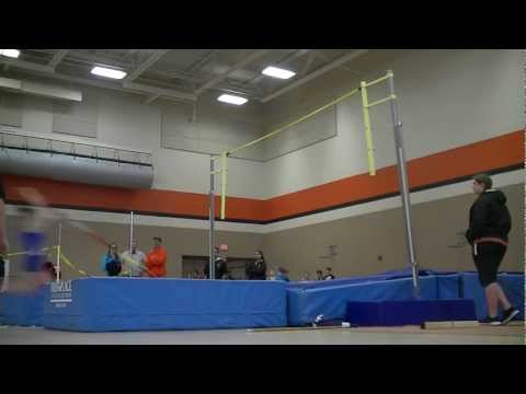 Autumn Conn Illinois High School Pole Vaulter clears 11 feet for Burlington Central High School