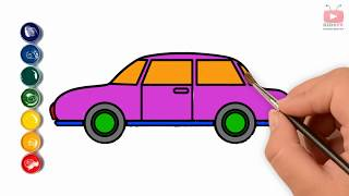 Drawing and Coloring Carhow to color adult coloring color car cartooning chibi family channel