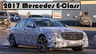 2017 Mercedes E-Class, spied testing and get a new design details