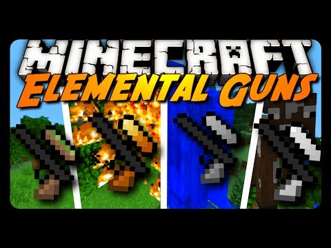 Minecraft Mod Review: ELEMENTAL GUNS!