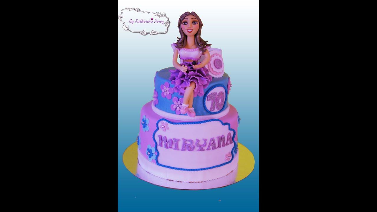 Torta Cake Design Violetta : TORTA VIOLETTA 2/VIOLETTA CAKE 2 - YouTube