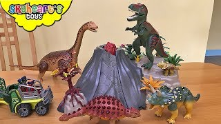 PLAYMOBIL DINOSAURS Collection! T-Rex Volcano Ankylosaurus Jurassic world dino toys kids
