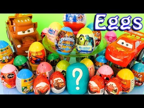 Play Doh Kinder Surprise Cars Disney Chocolate Easter Eggs Angry Birds Starwars Play-Doh Toys