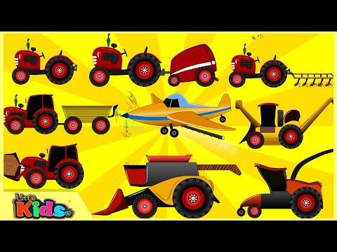 Learning Farm Vehicles | Fun and Educational Learning for Children | Little Kids TV