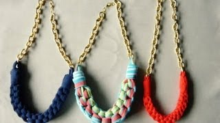 DIY collar con tela