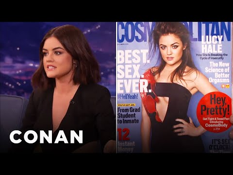 Lucy Hale's Sexy Cosmo Cover Embarrassed Her Dad  - Conan On Tbs video