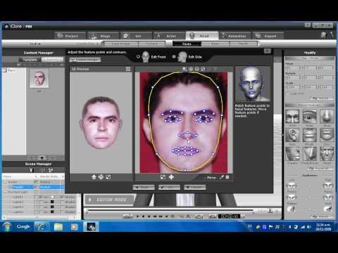 Hacer un personaje 3d con tu fotografia en Iclone