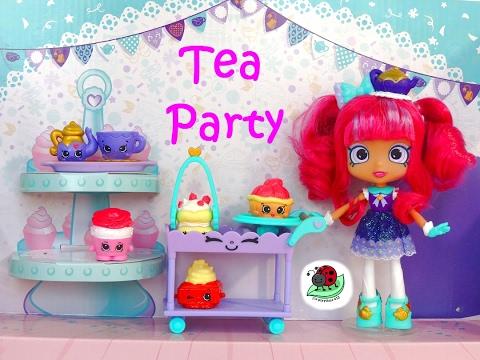 SHOPKINS TIPPY'S TEA PARTY TIPPY TEAPOT ROSIE BLOOM Season 7 | itsplaytime612