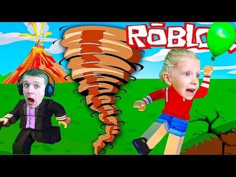 Остров Выживания в ROBLOX при плохой ПОГОДЕ играем с Миланой роблокс летсплей от FFGTV