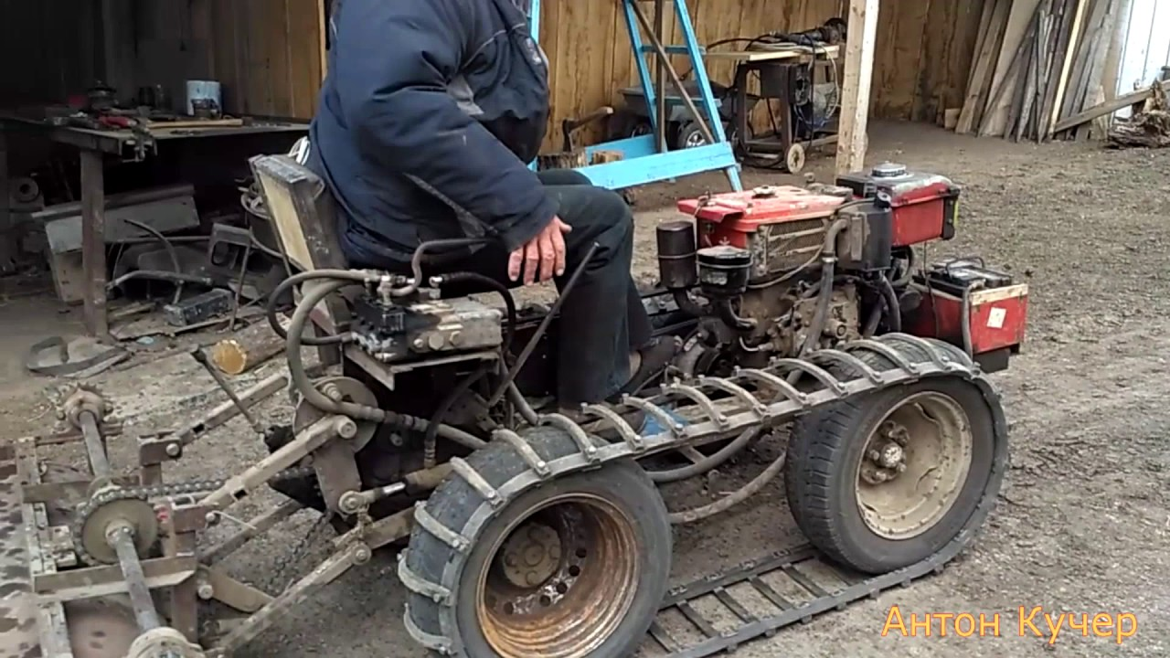 Трактор из мотоблока урал своими руками