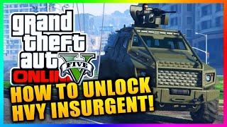 "GTA 5 Heists DLC ""HVY INSURGENT"" - How To Unlock HVY Insurgent Gameplay! (GTA V Heists Gameplay)"