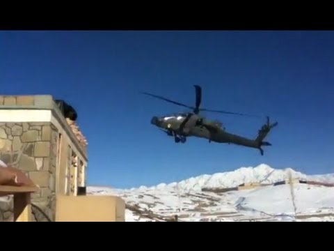 Apache Helicopter Ground Impact