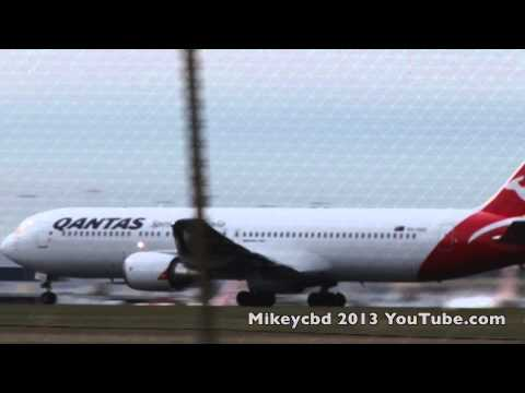 Boeing 767 Take Off Melbourne Airport Crank up volume Rwy 34
