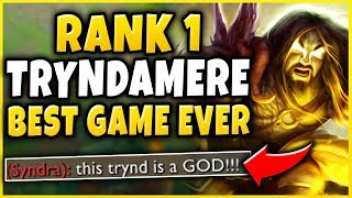RANK 1 TRYNDAMERE'S GREATEST GAME OF HIS LIFE! (CHALLENGER 1V9 CARRY) - League of Legends