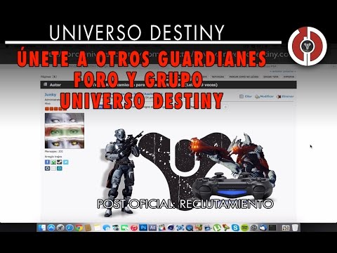 ÚNETE A OTROS GUARDIANES : FORO Y GRUPO DE UNIVERSO DESTINY