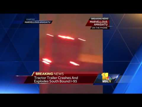 Video: Witness recounts fiery tanker crash