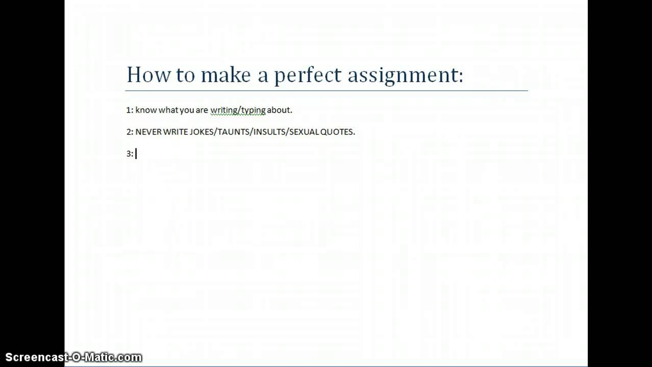 how to create assignment