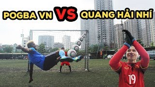 Thử thách bóng đá sút Vô Lê như Ronaldo - Quang Hải nhí VS Pogba phiên bản U23 Việt Nam