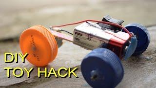 DIY Toys Hack - Car from Bottle Cap ( Mainan Unik dari tutup botol)